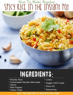 Welcome to how to make Nandos Spicy Rice In The Instant Pot. Discover the secret behind delicious Portuguese spicy rice cooked to perfection in the Instant Pot… Instant Pot, Spicy Rice, Slimming World Recipes, Air Fryer Recipes, Healthy Dinner Recipes, Spicy Recipes, Chicken Recipes, Slow Cooker Recipes, Stuffed Peppers