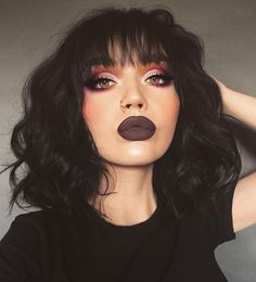 30 amazing makeups you should try - chic hostess - amazing . - 30 Amazing Makeups You Should Try – Chic Hostess – Amazing Face Makeup; Dramatic facial make-up; Fashionable facial make-up; Dark Makeup, Skin Makeup, Natural Makeup, Dark Lipstick Makeup, Dramatic Makeup, Eyebrow Makeup, Black Hair Makeup, Edgy Makeup, 80s Makeup