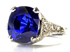 8 cts. gem Sapphire Ring in hand-pierced platinum, only one available, designed by Janet Deleuse www.deleuse.com free shipping
