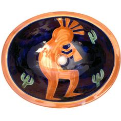 Traditional Mexican Sink-Cocopeli - Mexican Tile Designs