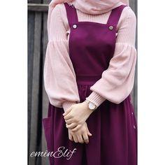 hijab dress Likes, 557 Comments - Elif 🌸 ( on Inst Hijab Dress Party, Hijab Style Dress, Modest Fashion Hijab, Modern Hijab Fashion, Hijab Chic, Hijab Outfit, Muslim Fashion, Fashion Dresses, Modele Hijab