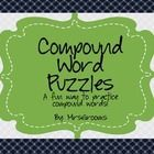 Compound word puzzle activity to supplement your compound word instruction. Can be used as and individual or small group activity. Small Group Activities, Compound Words, Word Puzzles, Teacher Pay Teachers, Small Groups