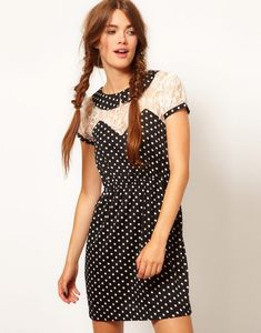 Refashion idea: add lace to a dress