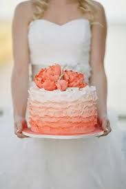silver and coral cakes