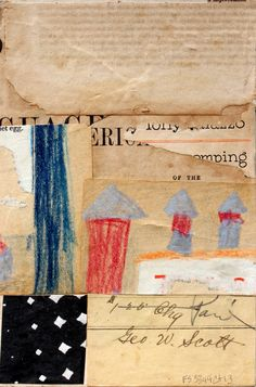 Fusion Series #3344 - Cecil Touchon - 2013 - collage on paper - 9x6 inches