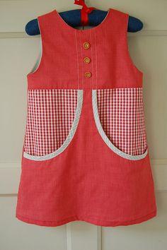 Red Check Van Katoen Dress by bred2make, via Flickr