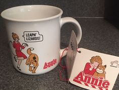 Applause Annie Mug Leapin' Lizards 1982 Movie Little Orphan Annie Sandy New  | eBay