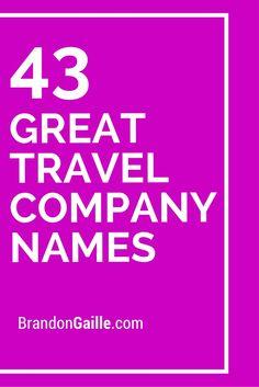 43 Great Travel Company Names