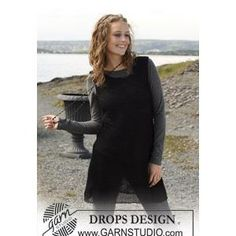 Ladies' Sleeveless Tunic Top Knitting Pattern in DROPS