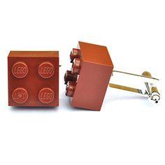 LEGO® Manschettenknöpfe (braun) Hochzeit, Groom, Herren Geschenk - http://schmuckhaus.online/sjp-cufflinks/lego-manschettenknoepfe-braun-hochzeit-groom