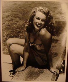 Marilyn Monroe at Jones Beach Pool in Long Island.    [1949 by Weegee]