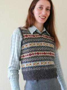 V-Neck Fair Isle Pullover Vest pattern by Elizabeth Zimmermann ...