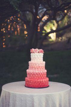 ombre orange cake | Christine Sara Photography | Glamour & Grace