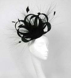 Black Fascinator Kentucky Derby or Wedding Hat by Hatsbycressida, $100.00