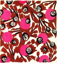 Textile design by Atelier Zina de Plagny (late 40s / early 50s).