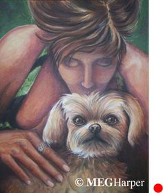 Bijen and Snicky Pet Love Painting ~ Meg Harper — Meg Harper Art   Are you looking for a painting of your magnificent pet? Have Meg create a pet portrait just for you, today.    #dog #puppy #best friend #inspirational #kindness #animalpainting #art #painting #pets #petportrait #animal #love #megharper #megharperart