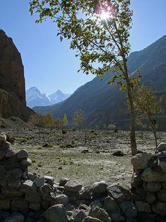 Receding peaks - Himalayas - Kagbeni, Nepal