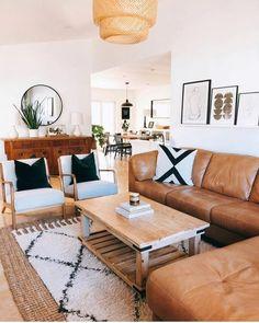 Boho Living Room, Home And Living, Living Room Decor, Modern Living, Living Rooms, Small Living, Living Room Inspiration, Home Decor Inspiration, Decor Ideas