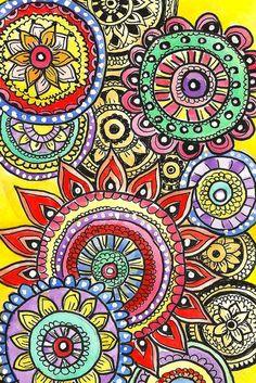 colored zentangles