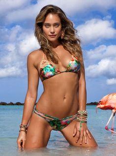 NWT Luli Fama women size XL Miami Nice Crochet triangle bikini top #LuliFama #BikiniTop
