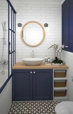 zen Bathroom Decor Latest funky bathroom mirror id - bathroomdecor Bathroom Interior Design, Zen Bathroom, Trendy Bathroom, Bathroom Makeover, Bathroom Mirror, Bathroom Vanity, Round Mirror Bathroom, Bathroom Renovations, Bathroom Decor