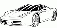 Ferrari Car Coloring Pages one of the most popular coloring page in Car category. Explore more coloring pages like Ferrari Car Coloring Pages from the Coloring. Race Car Coloring Pages, Sports Coloring Pages, Coloring Sheets For Kids, Coloring Pages For Girls, Coloring Pages To Print, Colouring Pages, Printable Coloring Pages, Coloring Books, Kids Coloring