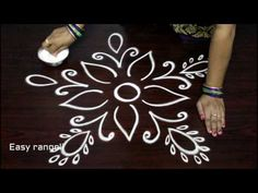 simple rangoli designs with out dots for beginners - freehand kolam designs - muggulu designs Rangoli Side Designs, Rangoli Designs Latest, Simple Rangoli Designs Images, Rangoli Borders, Free Hand Rangoli Design, Small Rangoli Design, Rangoli Ideas, Rangoli Designs With Dots, Beautiful Rangoli Designs