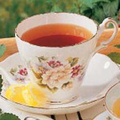 Black Tea with Lemon Balm; grow lemon balm, easy enough to do.