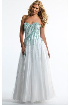 White Backless A-line Sleeveless Natural Prom Dresses