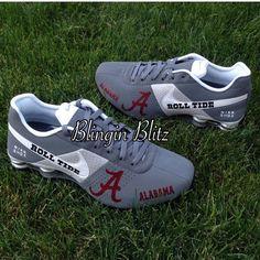 Mens Alabama Nike Shox by BlinginBlitz on Etsy