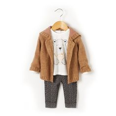 3-Piece Cardigan, T-shirt and Leggings Outfit R baby