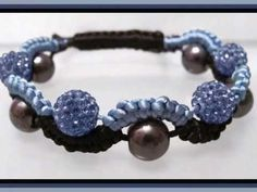 Beading4perfectionists : Macramé (friendhip bracelet for adults :-) beginners beading tutorial - YouTube