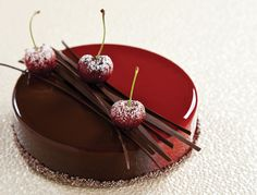 nathanielreid-project-scarlett-Dark Chocolate Mousse, Cherry and Black Currant Compote, Cocoa-Almond Sable