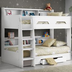 Kids beds with storage boys Bedroom Furniture Orion White Wooden Storage Bunk Bed Frame Only Happy Beds Kids Beds Beds For Children And Toddlers Happy Beds - ixiqi Bunk Beds With Drawers, Wooden Bunk Beds, Bunk Bed With Desk, Bunk Beds With Storage, Bunk Beds With Stairs, Kids Bunk Beds, Bed Storage, Wardrobe Storage, Clothes Storage