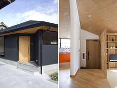 Amazing Modern Japanese House Interior Design: Modern Japanese House Black Wall Outside And Wood Inside ~ bhuto.com Architecture Inspiration...