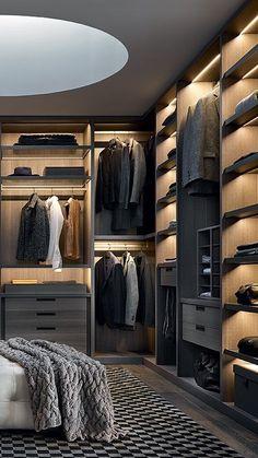 Wardrobe Room, Wardrobe Design Bedroom, Room Design Bedroom, Dressing Room Closet, Dressing Room Design, Wardrobe Door Designs, Closet Designs, Modern Wardrobe Designs, Luxury Wardrobe