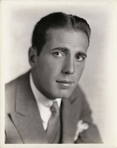 "Humphrey Bogart in the ""Roaring Twenties"" he was such a handsome young man."