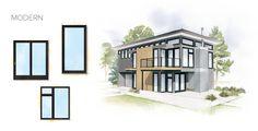 Modern Home Style Window Door Overview. Andersen windows.