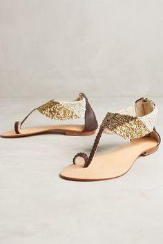 Cocobelle Coco Beadwork Sandals #anthroregistry