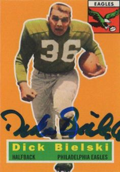 Find the best deal on Dick Bielski autographed items for your collection of Sports, Football memorabilia. Football Trading Cards, Baseball Cards, Cowboys Sign, Baltimore Colts, Fly Eagles Fly, American Football Players, Football Memorabilia, Custom Football, National Football League