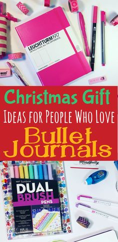Do you have a special bullet journal fanatic in your life? Never know what to get them? Start your search right with these awesome gift ideas for bullet journal tools for beautiful bujos! Any of these products will be sure to make any bullet journal lover swoon. (Even better, get two of everything so you can make bullet journal spreads and layouts together!). #bulletjournal #bujocommunity #gift #christmasgifts