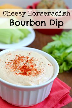 Cheesy Bourbon Horseradish Dip- a great holiday appetizer and a giveaway!