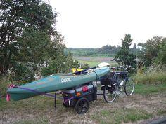 Improv kayak bike trailer   Flickr - Photo Sharing!