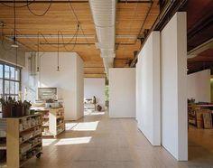 Studio with movable walls.  Like.