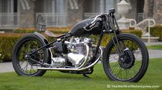 Vintage British Bobber by Ian Barry, Falcon Motorcycles