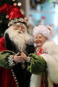 Santa & Mrs. Claus - LoVe! Father Christmas, Santa Christmas, Vintage Christmas, Christmas Ornaments, Christmas Ideas, Xmas, Santa Face, Santa And Reindeer, Santa Clause