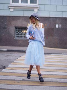 голубая юбка пачка