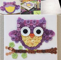 You'll love this cute little Button Owl | http://handmade-ideas.com
