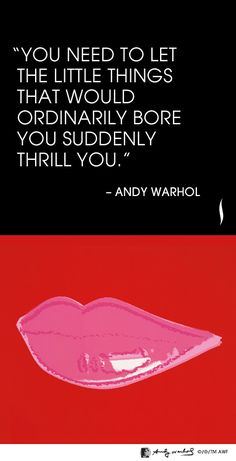 """You need to let the little things that would ordinarily bore you suddenly thrill you."" -Andy Warhol- #NARS #Sephora"