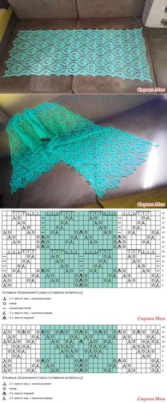 Lace shawl pattern